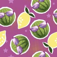 Servietten 33x33 cm - Lemons n watermelons