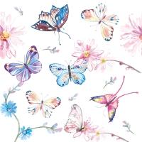 Servietten 24x24 cm - Butterflies