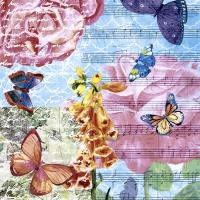 Servietten 24x24 cm - Musical garden