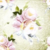 Servietten 33x33 cm - Vintage roses