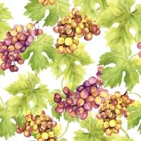 Servietten 33x33 cm - Grapes