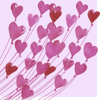 Servietten 33x33 cm - Love