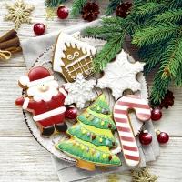 Servietten 33x33 cm - Colorful cookies