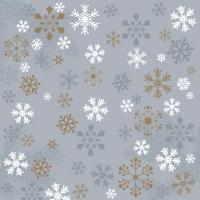Servietten 33x33 cm - Traditional snow grey