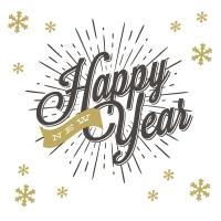 Servietten 33x33 cm - New year