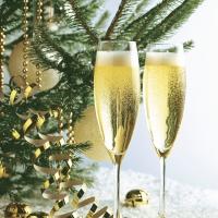 Servietten 33x33 cm - Cheers in gold