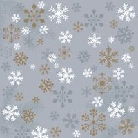 Servietten 24x24 cm - Traditional snow grey