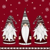 Servietten 24x24 cm - Gnomes