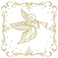 Servietten 33x33 cm - Angel Deco