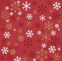 Servietten 40x40 cm - Traditional snow red