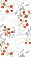 Servietten 40x40 cm - Red berries