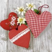 Servietten 25x25 cm - Bavarian hearts