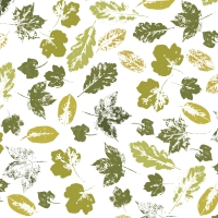 Servietten 33x33 cm - Stamped leaves