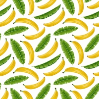 Servietten 33x33 cm - Bananas