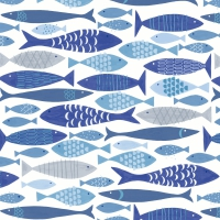 Servietten 33x33 cm - Shoal of fish