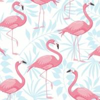 Servietten 33x33 cm - Flamingo garden
