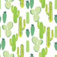 Servietten 33x33 cm - Desert cacti