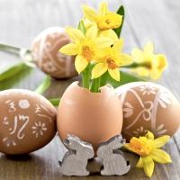Servietten 33x33 cm - Small Easter greetings
