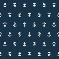 Servietten 33x33 cm - Anchor dark blue