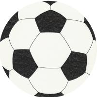 Gestanzte Servietten - Fußball