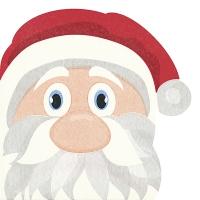 Gestanzte Servietten - Santa