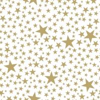 Servietten 24x24 cm - Starlets white/gold