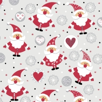 Servietten 24x24 cm - Funny Santas