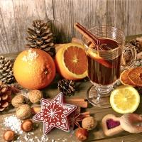 Servietten 33x33 cm - Taste of Advent