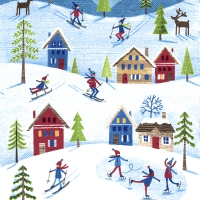 Servietten 33x33 cm - Winter sports