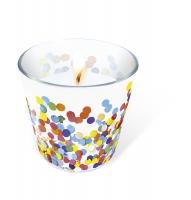 Glaskerze - Glaskerze Confetti