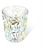 Glaskerze - Glaskerze Willow leaves