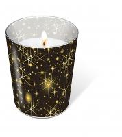 Glaskerze - Glittering stars