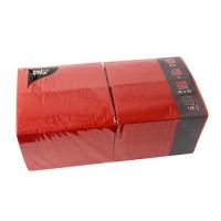 250 Servietten 33x33 cm 1/8 Falz - rot