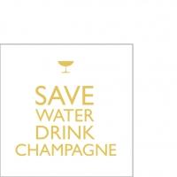 Servietten 25x25 cm - Champagner trinken!cm