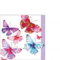 Servietten 25x25 cm - Aquarell Butterflies