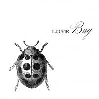 Cocktail Servietten Love Bug