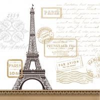 Servietten 25x25 cm - Paris Rendezvous Whitecm