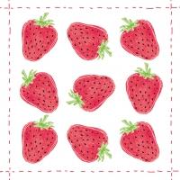 Cocktail Servietten Fashion Strawberry
