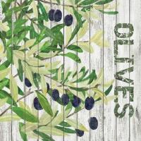 Servietten 25x25 cm - Oliven ernten