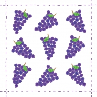 Servietten 25x25 cm - Fashion Grapes allover purple