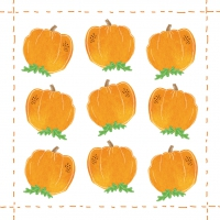 Servietten 25x25 cm - Fashion Pumpkin allover *
