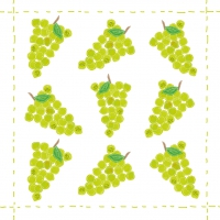 Servietten 25x25 cm - Fashion Grapes allover green *