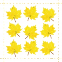 Servietten 25x25 cm - Fashion Leaf allover *