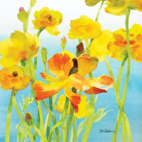 Servietten 25x25 cm - Yellow Buttercups