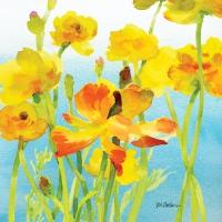 Servietten 25x25 cm - Yellow Buttercups
