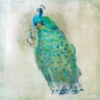 Cocktail Servietten Peacock Royale