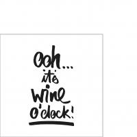 Servietten 25x25 cm - Wine o´clock
