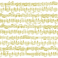 Servietten 25x25 cm - Musica Oro