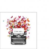 Servietten 25x25 cm - I Love You