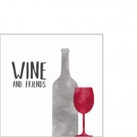 Servietten 25x25 cm - Wine Friends